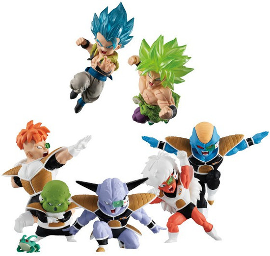 Dragon Ball Super Adverge Motion Wave 2 Set of 7 Mini Figures