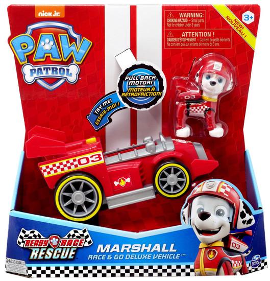 Paw Patrol Ready Race Rescue Race & Go Marshall Vehicle & Figure