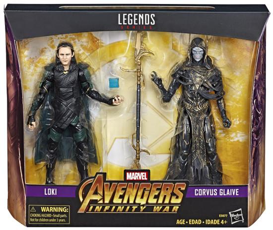 Avengers Infinity War Marvel Legends Loki & Corvus Glaive Exclusive Action Figure 2-Pack