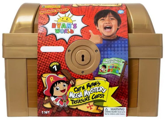 Pocket Watch Ryan's World Series 1 Cap'n Ryan's Treasure Chest Exclusive Mega Mystery [Gold Version]