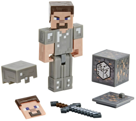 Minecraft Comic Maker Steve in Iron Armor Action Figure