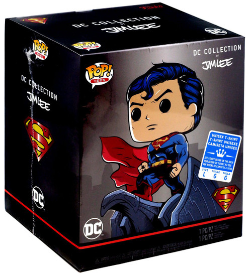 Funko DC Collection by Jim Lee POP! Heroes Superman for Tomorrow Vinyl Figure & T-Shirt [Large]