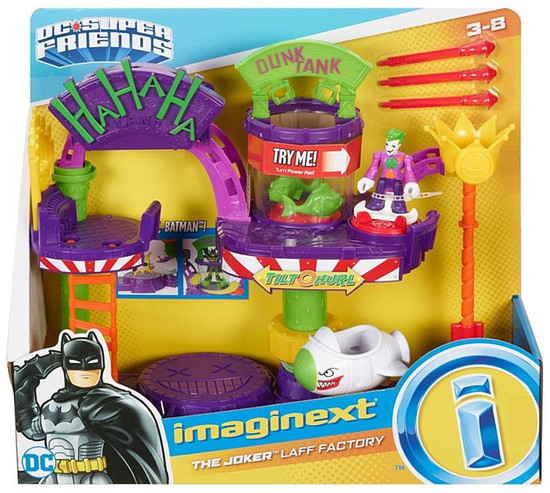 Fisher Price DC Super Friends Imaginext The Joker Laff Factory Playset [2019]