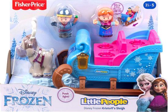 Fisher Price Disney Frozen Little People Kristoff's Sleigh Playset