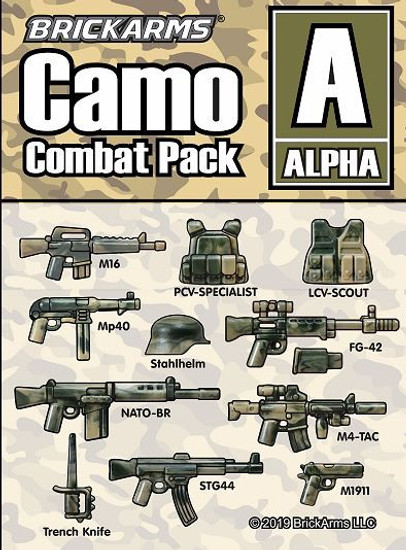 BrickArms Camo Combat Pack A 2.5-Inch Weapons Pack [Alpha]