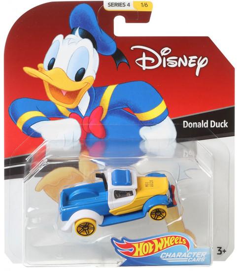 Disney Hot Wheels Character Cars Series 4 Donald Duck Die Cast Car #1/6
