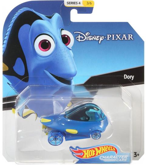 Disney Hot Wheels Character Cars Series 4 Dory Die Cast Car #3/6