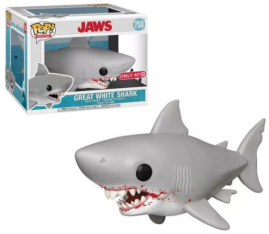 Funko Jaws POP! Movies Great White Shark Exclusive 6-Inch Vinyl Figure #758 [Bloody Mouth]