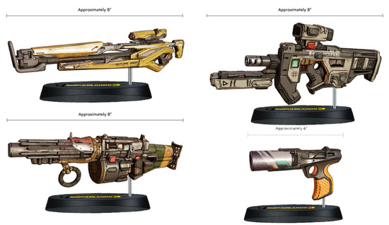 Borderlands 3 MicroArmz 8-Inch Set of 4 Scaled Replica Weapons (Pre-Order ships February)