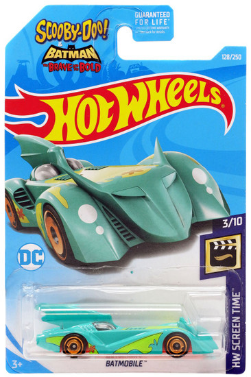 Hot Wheels Scooby-Doo! & Batman The Brave & The Bold HW Screen Time Batmobile Die-Cast Car #3/10