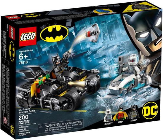 LEGO DC Batman Mr. Freeze Batcycle Battle Set #76118