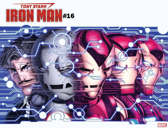 Marvel Comics Tony Stark: Iron Man #16 Comic Book [Valerio Schiti Variant Cover]