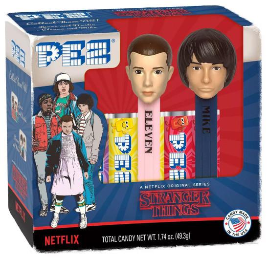 PEZ Stranger Things Eleven & Mike Pez Dispenser 2-Pack
