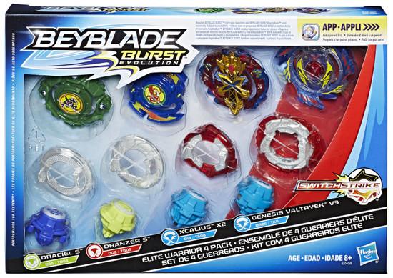 Beyblade Burst Evolution Switchstrike Elite Warrior Exclusive 4-Pack