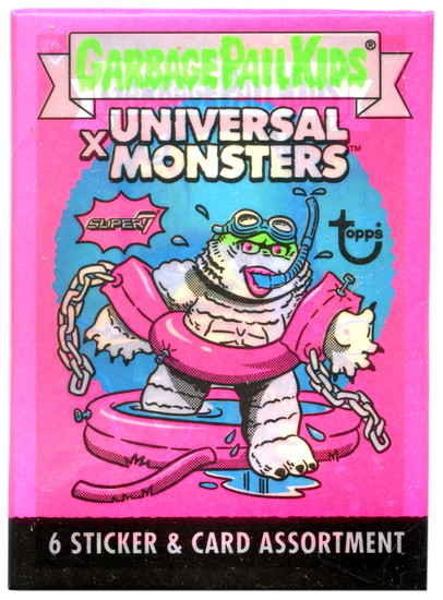 Garbage Pail Kids X Universal Monsters Trading Card Wax Pack [6 Sticker / Cards!]