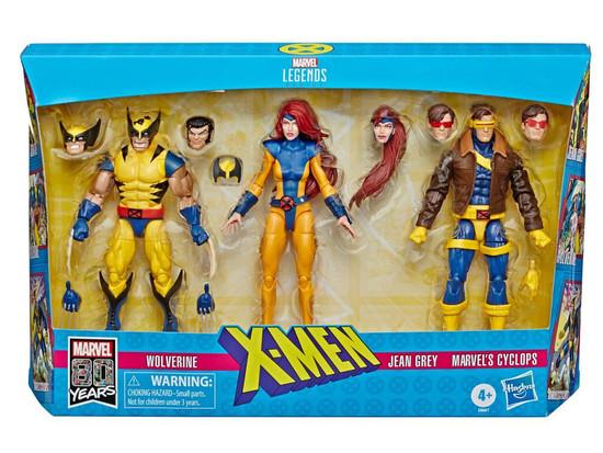 X-Men Marvel Legends Wolverine, Jean Grey & Cyclops Action Figure 3-Pack [90's Costumes]