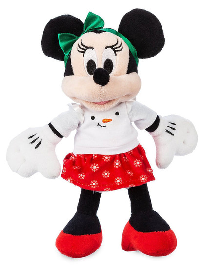 Disney 2019 Holiday Minnie Mouse Exclusive 9-Inch Mini Bean Bag Plush