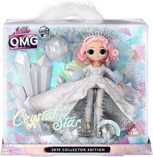 LOL Surprise Winter Disco 2019 OMG Collector Edition Crystal Star Fashion Doll
