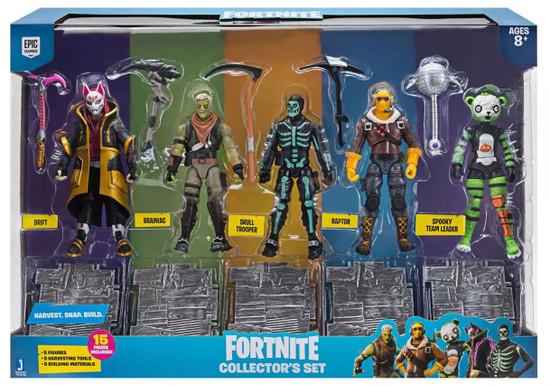 Fortnite Drift, Brainiac, Skull Trooper, Raptor & Spooky Team Leader Exclusive Action Figure 5-Pack
