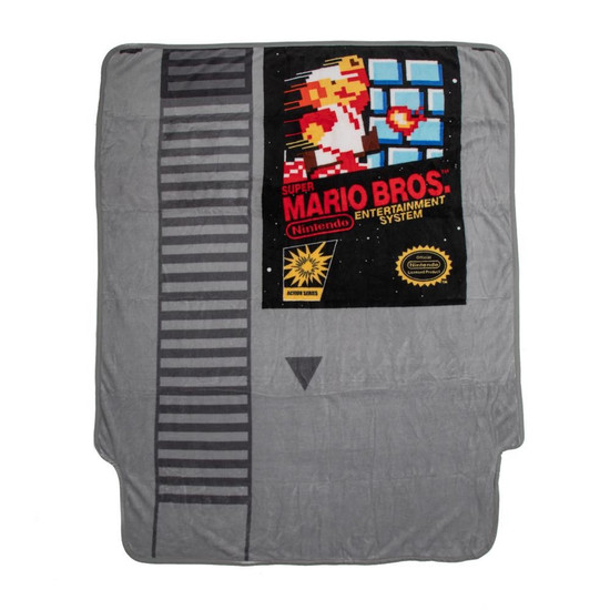 Nintendo Super Mario Cartridge Shaped Fleece Throw Blanket