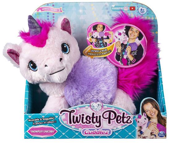 Twisty Petz Cuddlez Series 3 Snowpuff Unicorn Plush