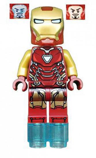 LEGO Marvel Super Heroes Avengers Endgame Iron Man Minifigure [Pearl Gold Arms Loose]
