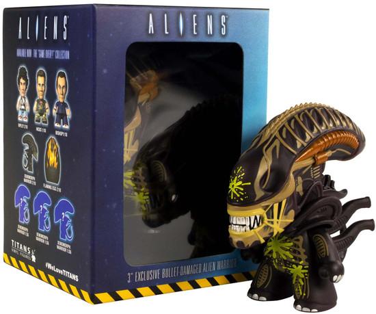 Titans Alien Warrior Xenomorph Exclusive 3-Inch Vinyl Mini Figure [Bullet Damaged]
