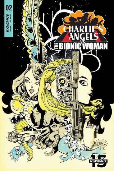 Dynamite Entertainment Charlie's Angels Vs Bionic Woman #2 Comic Book [Jim Mahfood Variant Cover]