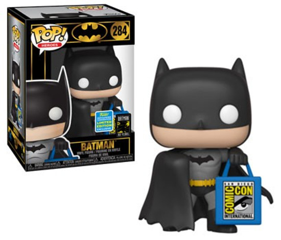 Funko DC Batman 80th POP! Heroes Batman Exclusive Vinyl Figure #284 [SDCC Bag]
