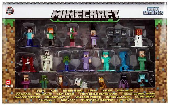 Nano Metalfigs Minecraft Diecast Figure 20-Pack [Version 2]