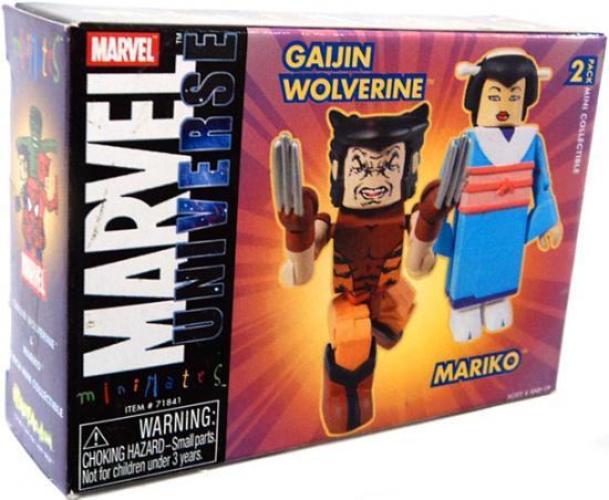 Marvel Universe Minimates Exclusives Wolverine & Mariko Exclusive Minifigure 2-Pack [Damaged Package]