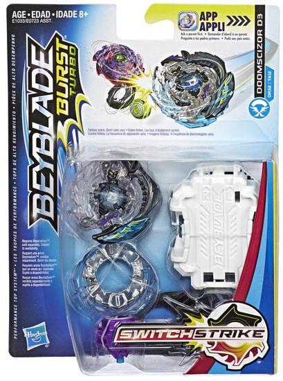 Beyblade Burst Turbo Switchstrike Doomscizor D3 Starter Pack