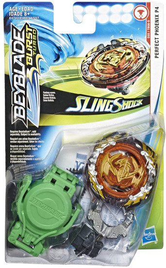 Beyblade Burst Turbo Slingshock Perfect Phoenix P4 Starter Pack