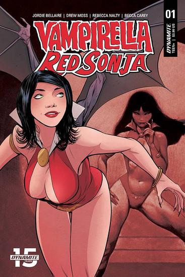 Dynamite Entertainment Vampirella / Red Sonja #1 Comic Book [Moss Then & Now Cover E]