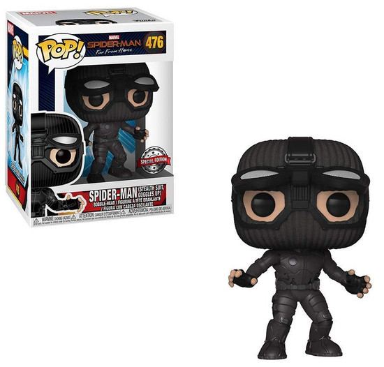 Funko Spider-Man Far From Home POP! Marvel Spider-Man Exclusive Vinyl Figure #476 [Stealth Suit, Goggles Up, Damaged Package]