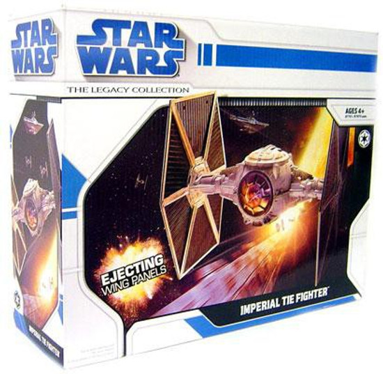Star Wars A New Hope 2008 Legacy Collection Imperial TIE Fighter Action Figure Vehicle