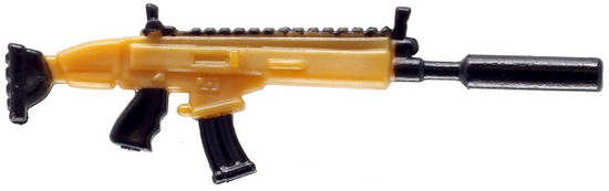 Fortnite Suppressed Assault Rifle 2-Inch Legendary Figure Accessory [Gold Loose]