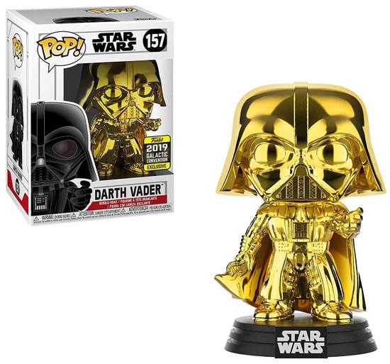 Funko POP! Star Wars Darth Vader Exclusive Vinyl Figure #157 [Gold, Damaged Package]