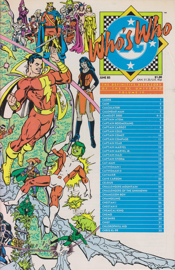 DC Who's Who #4 Comic Book [Very Fine]