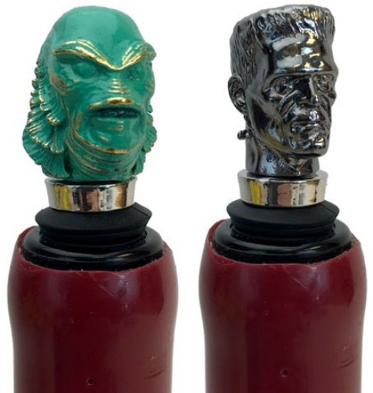 Universal Monsters The Creature From the Black Lagoon & Frankenstein's Monster Bottle Stopper Box Set (Pre-Order ships September)