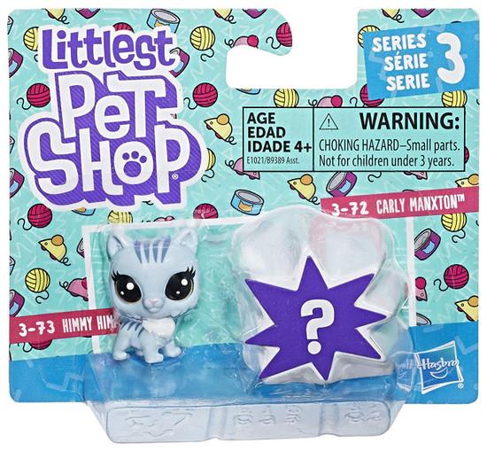 Littlest Pet Shop Series 3 Carly Manxton & Mystery Figure Mini Figure 2-Pack