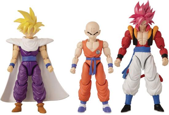 Dragon Ball Super Dragon Stars Series 14 Super Saiyan 4 Gogeta, Krillin & Super Saiyan Gohan Set of 3 Action Figures