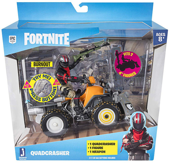 Fortnite Epic Games Quadcrasher with Burnout Vehicle & Action Figure [Game-Authentic Sounds]