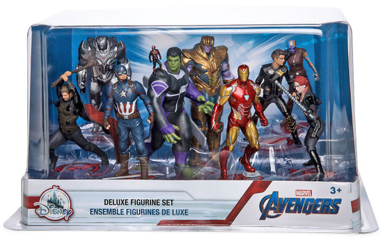 Disney Marvel Avengers Endgame Exclusive 9-Piece Deluxe PVC Figure Playset [Damaged Package]