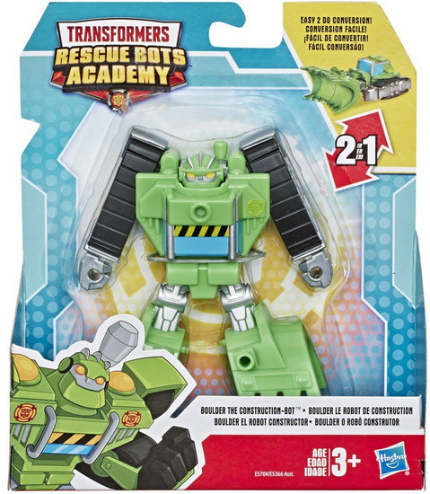"""Transformers Playskool Heroes Rescue Bots Academy Boulder the Construction-Bot 4.5"""" Action Figure"""