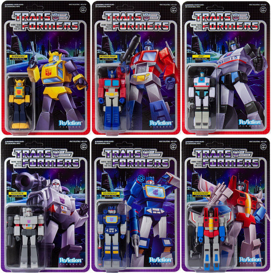 ReAction Transformers Set of 6 Action Figures