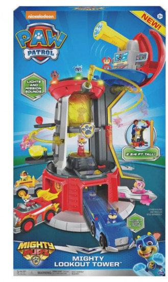 Paw Patrol Mighty Pups Lookout Tower Playset