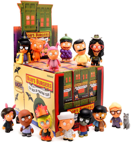 Bob's Burgers Vinyl Mini Figure Trick or Treating Tour 3-Inch Mystery Box [24 Packs]