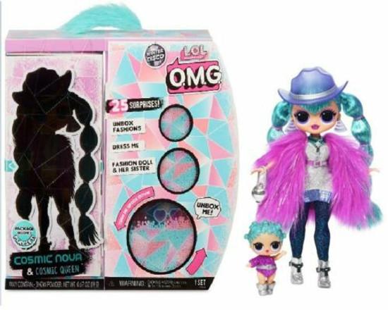 LOL Surprise Winter Disco OMG Cosmic Nova & Cosmic Queen Fashion Doll