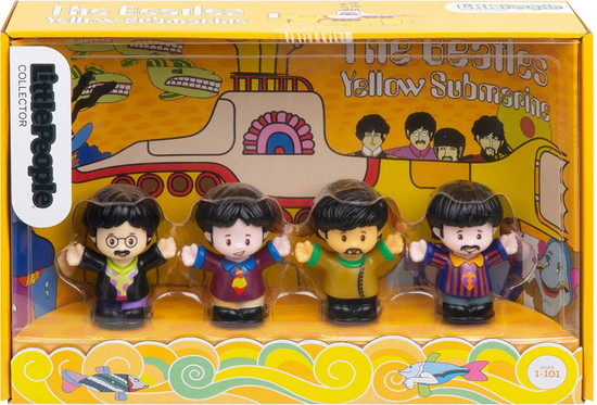 Fisher Price Little People Collector The Beatles Yellow Submarine Figure 4-Pack